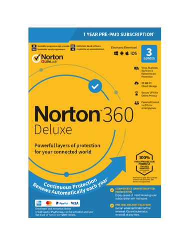 Norton 360 Deluxe (3 Device / 1 Year) Download